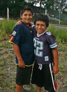 smiling boys in Guatemala City near The Incense bridge