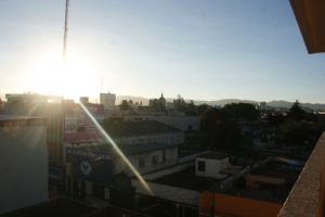 A sunset in Guatemala City 2013