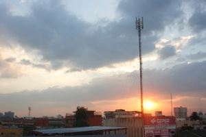 Photograph of a sunset in Guatemala City