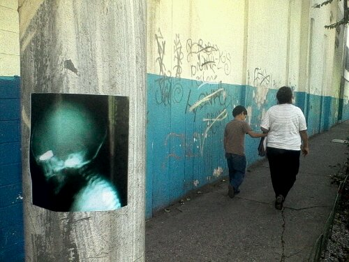 urban art intervention guatemala city by duffboy