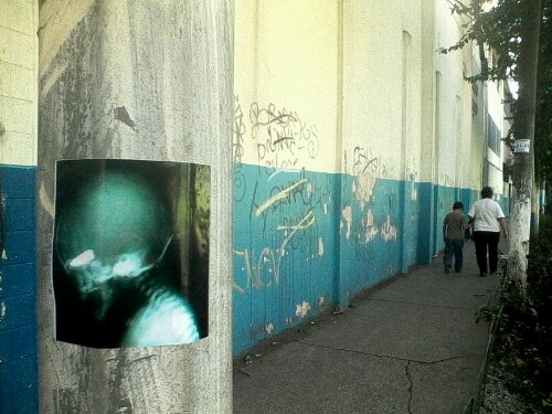 photograph of a Guatemalan public intervention by Duffboy