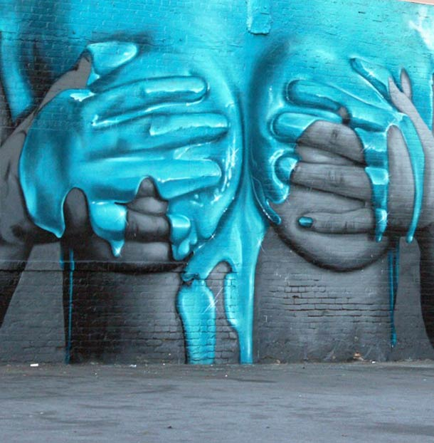 erotic graffiti bodypaint realistic