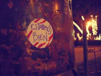 Sticker placed in Antigua Guatemala by Duffboy
