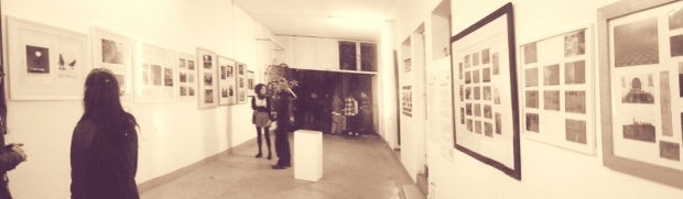 panoramic shot of Renaud Ruhlmann art show