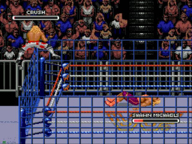 old school NES wrestling videogame 8 bit