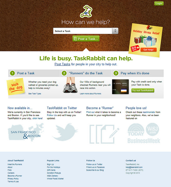 taskrabbit dot com screengrab