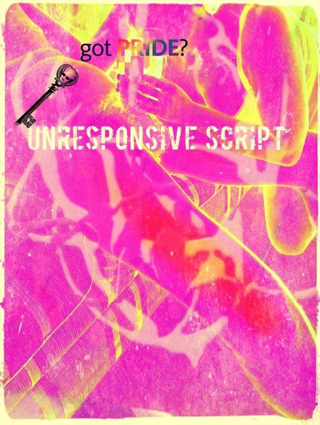 unresponsive script vaporwave art